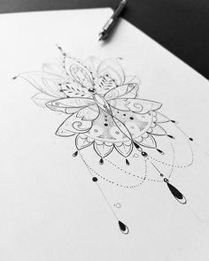 Composição da flecha montada para primeira tatuagem da cliente @tatimotab. Www.kefonascimento.com.br