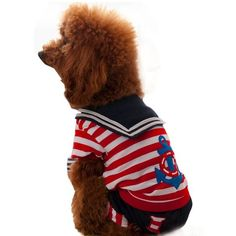 Dog Jumpsuit, HP95(TM) Pet Printed Cotton Pajamas, Small Dog Cat Navy Jumpsuit Coat Shirt Clothes * Quickly view this special dog product, click the image : Dog Apparel and Accessories