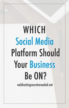 If you're a small business and wants to build a presence on social media, here's a useful guide that will help you figure out which social media platforms you should use for your business: http://www.webhostingsecretrevealed.net/blog/socialmedia-marketing/which-social-media-platform-should-your-business-be-on/?utm_source=pinterest&utm_medium=post&utm_campaign=twelveskip