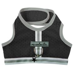 Black Dog Harness Vest. Athletic Mesh 3800 For Teacup, Little, Tiny, Small Dogs. Black for boy, girl dogs, female, male dog.From the designer of Cloak & Dawggie, My Canine Kids for your pet's favorite, updated.  Fits dogs from 2 LBS up to 15 LBS. Designed to stay on - won't come off.  Military strength closure - and leash ring. Harness Vest style dog vest. With reflective trim, night visibility. Nylon with wicking mesh. 3 Layer padded. Washable.