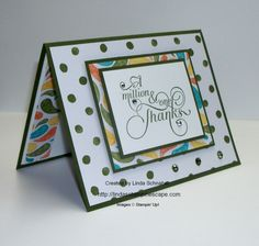 Million & One stamp set by Stampin' Up! teamed up with the Birthday Bash Designer Series Paper! http://lindasstampinescape.com