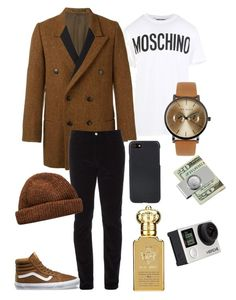 """Hombre Libre  the best Outfit"" by elisants on Polyvore featuring Moschino, Yohji Yamamoto, Gucci, Vans, Ted Baker, Shinola, American Coin Treasures, Billabong and Clive Christian"