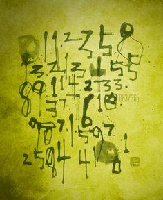 フィボナッチ数列 : Fibonacci numbers / Japanese calligraphy by Goroh Tagawa / 田川悟郎 書道作品
