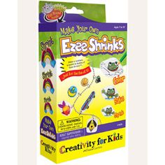 "$6.49 - Only your creativity awaits!Make your own Shrinky Dinks jewelry creations. Includes;• 5 sheets of blank film (4 x 5)• 6 colored pencils• Chain necklace• Bracelet• Jump rings• And a hole punch. If your children love ""make your own toys"" click here and check out ALL of them!"