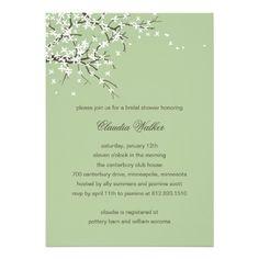 Spring Blossoms Bridal Shower Invitation (Sage)