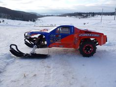 Project Snowmo Slash : Traxxas Slash with Skis and Paddles