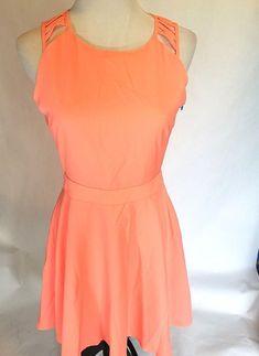 Xenia Boutique Womens Dress Size 12 Strappy Back Coral #xenia