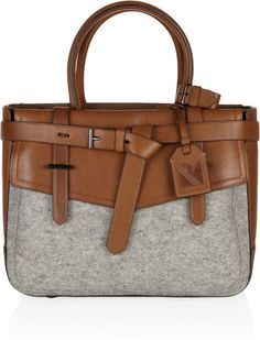 REED felt leather tote grey