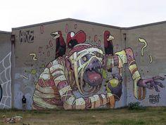 amazing mural by Aryz