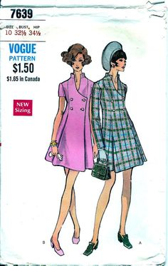 1960s Misses Princess Cut Coat Dress In 2 by MissBettysAttic, $12.00