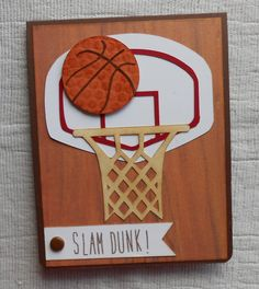 handcrafted basketball cards for fathers day - Google Search