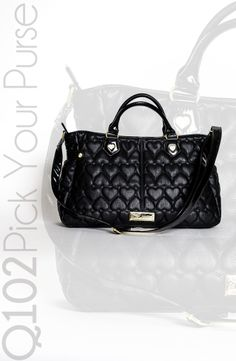 Betsey Johnson - Be Mine Satchel in Black. Go to wkrq.com to find out how to play Q102's Pick Your Purse!