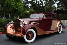 "This is the shiiitttttt. You can only ride this bitch in a three piece suit and a Tommie gun. POWER CARS: Rolls-Royce Phantom III Sedanca Saloon ""Copper Rolls"" by Freestone & Webb Auto Retro, Retro Cars, Vintage Cars, Antique Cars, Auto Rolls Royce, Vintage Rolls Royce, Rolls Royce Phantom, Bugatti, Roadster"