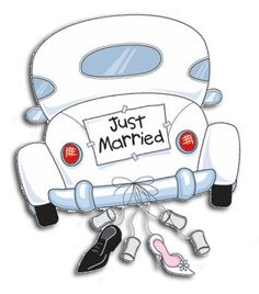 Afbeeldingsresultaat voor just married auto Wedding Anniversary Cards, Happy Anniversary, Wedding Cards, Wedding Gifts, Wedding Clip Art, Just Married Banner, Just Married Car, Wedding Scrapbook, Wedding Images