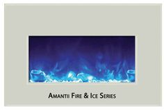 Amantii Fire & Ice Series Medium Insert Electric Fireplace w/ White Glass Surround Linear Fireplace, Fireplace Doors, Fireplace Design, Built In Electric Fireplace, Electric Fireplaces, Doors Online, Living Room Remodel, Fire And Ice, Feng Shui