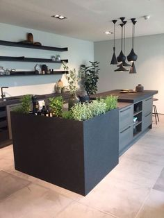 An industrial kitchen with fantastic ideas that can be easily used in your personal outline. New Kitchen, Kitchen Dining, Kitchen Decor, Kitchen Ideas, Urban Kitchen, Island Kitchen, Kitchen Designs, Kitchen Cabinets, Kitchen Walls