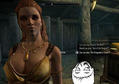 Funny Skyrim Memes   Play me again, Karita