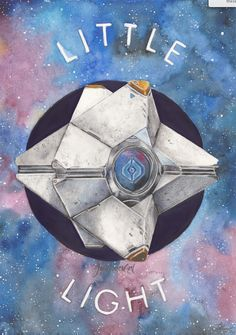 'Little Light' Artwork by JadeJonesArt. Painting of Ghost inspired by the video game Destiny. Created using watercolours, acrylic paint and prismacolor pencils. http://www.etsy.com/uk/shop/JadeJonesArt
