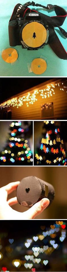 simple trick :: shaped Bokeh .....I hope this really work because that looks awesome. Props to whoever figured this out!