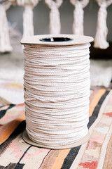Modern Macrame Cord 1200 Feet Cotton Rope Spool DIY