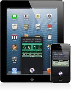 Lo nuevo de #Siri: por fín en Español, ahora también para el nuevo #iPad y con Eyes Free.