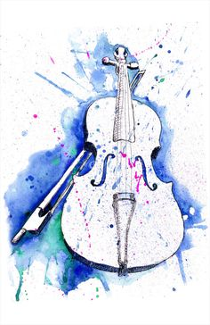 Watercolor Violin