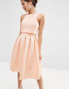 Image 3 ofASOS Crop Top Midi Scuba Dress