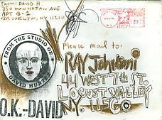Envelope art by Ray Johnson