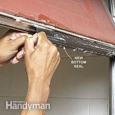 Exactly How to Insulate a Garage Door & ProSeal Garage Door Seal (20 ft.) -$21.95- Replace worn or damaged ...
