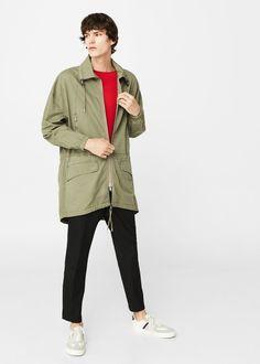 Bawełniana kurtka - Płaszcze dla Mężczyzna   MANGO Man Polska