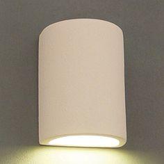 Ameritec Lighting�Half Cylinder 8.75-in H Paintable Bisque Dark Sky Outdoor Wall Light $55 Lowes