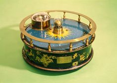 """Orrery, on display in the Science Museum, South Kensington, London. Made by John Rowley in 1712-13 for the Earl of Orrery. It shows the movement of the Earth and Moon around the Sun. Also known as a tellurium. (Credit: Science Museum) ©Mona Evans, """"Space at the Science Museum London"""" http://www.bellaonline.com/articles/art179333.asp"""