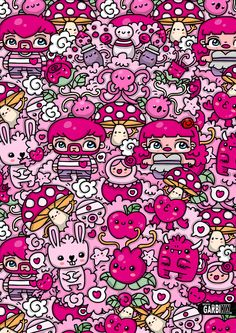 #kawaii #pink by Garbi KW #GKW #art