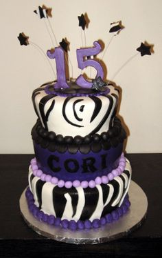 Birthday Cake For Teenage Girl Our Cakes Throughout The Years Zebra Stripe