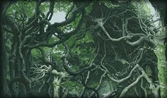 Jonathan Strange- Spread 1 Trees background.