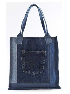 Sewing Patterns - Double Green Shopping Bag Pattern.  Been saving old jeans for such a project.