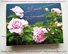 brides card Will you be my bridesmaid card by GinaWaltersdorffArt