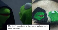 People Drawing Memes on Their Eyelids Is Our New Fav #Makeup Trend http://ibeebz.com