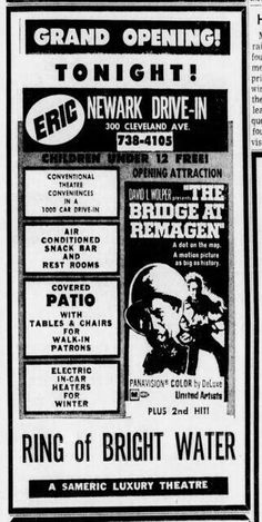 1969 Retro Advertising, Vintage Advertisements, Ads, Drive In Movie Theater, Theatres, Grand Opening, Golden Age, Letting Go, Let It Be
