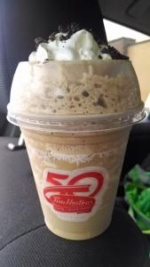 Remember when you wanted to start the day drinking something healthy and you decided that it was too gross to deal with so while you let a five. Iced Cappuccino, Tim Hortons, Oreo, Drinking, Ice Cream, Pudding, Healthy, Desserts, Food
