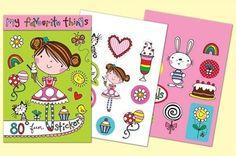 Rachel Ellen Designs Sticker Match Note Pads | STMNT13 My Favourite Things Stickers - http://www.stationeryheaven.nl/stickers