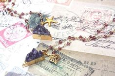 amethyst pendant amethyst quartz necklace purple amethyst
