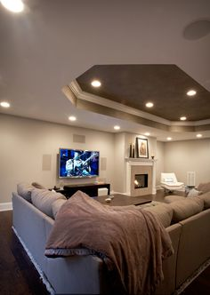 Hearth and Home Basement Family Room- Home Theater Installation - Home Automation - Networking - Whole House Audio - Whole Home Video - CCTV - Lighting Controls - Smart Home - Home Paging - Doorbell - Intercom - Central Vacuum - Digital Home Technologies