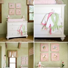 Pink and green nursery  Only with Classic Pooh accents