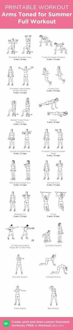 With 6 Triceps amp;shoulders workouts, ed by 6 Biceps amp;Back workouts, this makes a full upper body workout routines, at home or at the Gym ! my custom printable workout by WorkoutLabs by Valentina Guerin Fitness Workouts, Fitness Motivation, Leg Day Workouts, Back Exercises, At Home Workouts, Yoga Fitness, Body Workouts, Fitness Goals, Lifting Workouts