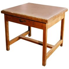 French Marble-Top Baker's Work Table 1