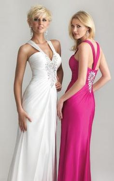 Online Long White Tailor Made Evening Prom Dress (LFNAL0398) in marieprom.co.uk