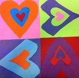 Artsonia Art Exhibit :: 1st Grade Pop Art Hearts