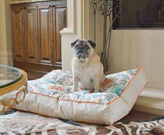 Canvas Dog Bed, Modern Pet Bed, Dog Bed Pillow, Washable Dog Bed Cover, Pet Furniture for Dog or Cat, Small Medium Large Dog Beds by originaldigsllc. Explore more products on http://originaldigsllc.etsy.com