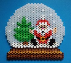 Week 28, Day 195, Santa.  365 Day Perler Bead Challenge.
